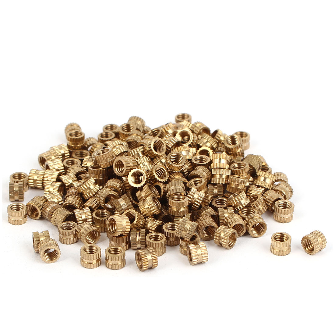M4 x 4mm Female Thread Brass Knurled Threaded Insert Embedment Nuts 200PCS