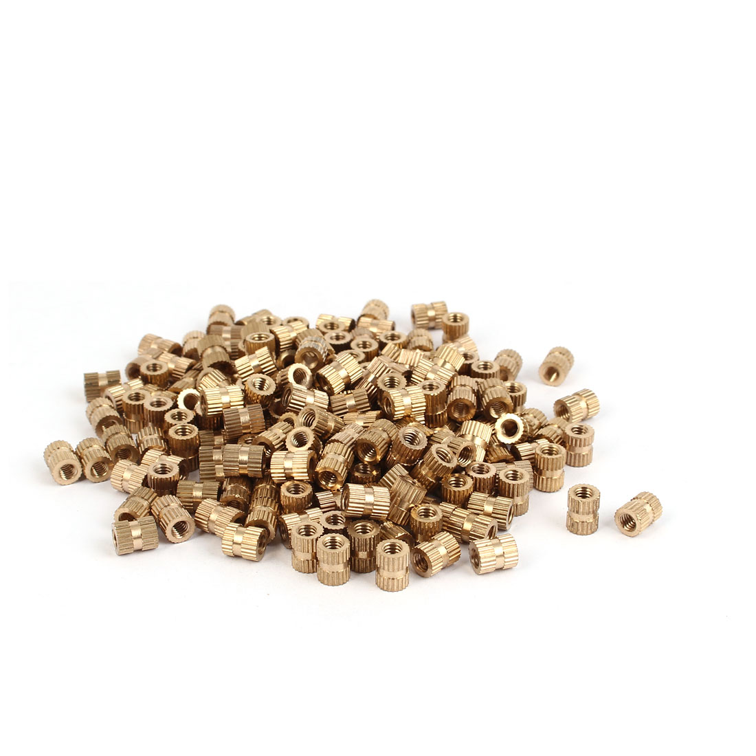 M4 x 8mm Female Thread Brass Knurled Threaded Round Insert Embedded Nuts 200PCS