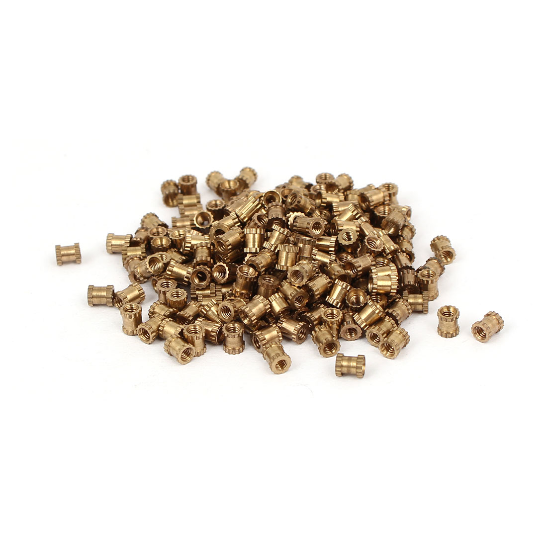 M2 x 4mm 3.2mm OD Brass Threaded Insert Embedded Knurled Thumb Nut 200PCS
