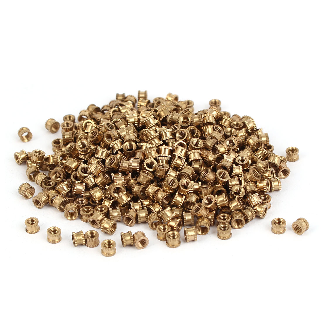 M3 x 3mm x 4.3mm Brass Injection Molding Knurled Threaded Insert Nuts 500PCS