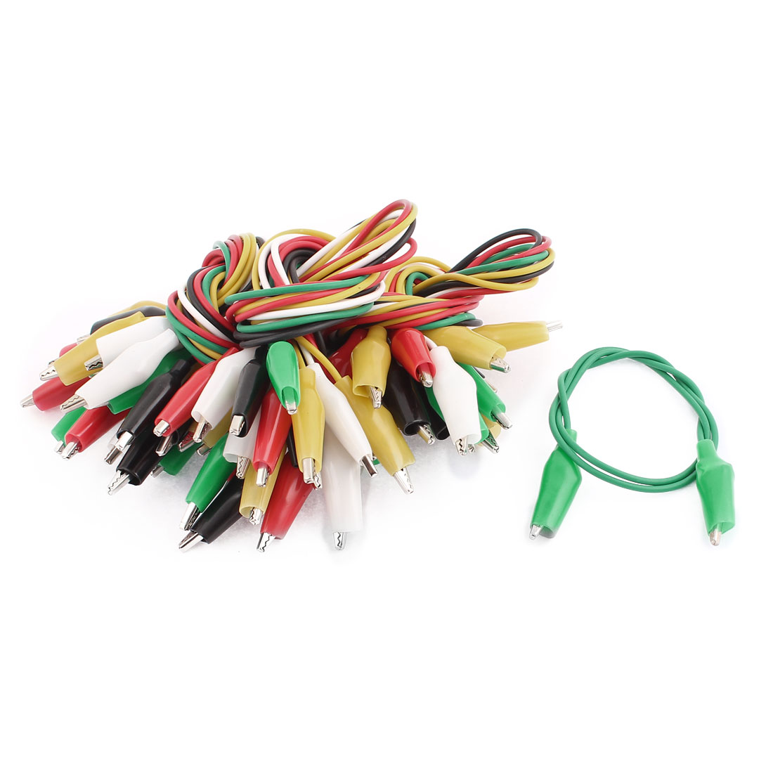 30pcs 50cm Length Colorful Double-ended Alligator Clips Test Jumper Wire