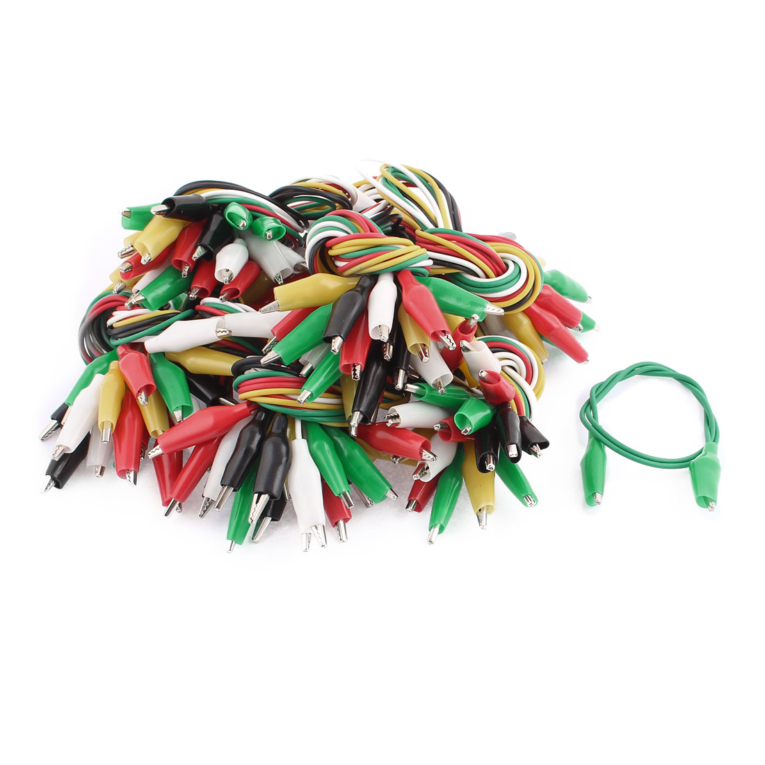 """20"""" Length Double-ended Alligator Crocodile Clips Test Jumper Wire 80Pcs"""