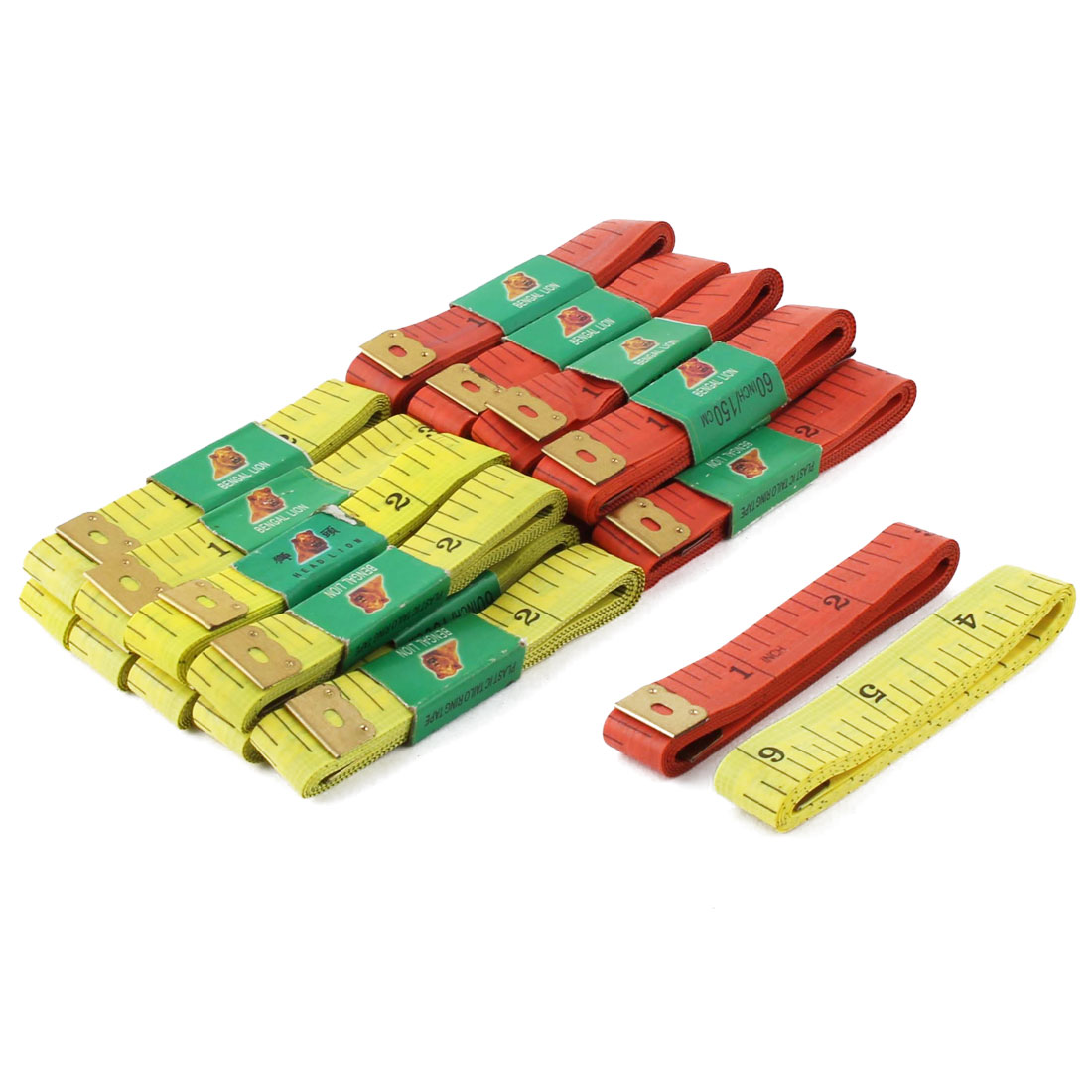 Sewing Tailor Plastic Body Clothes Measurement Tool Measure Soft Tape Ruler 150cm Length 20pcs