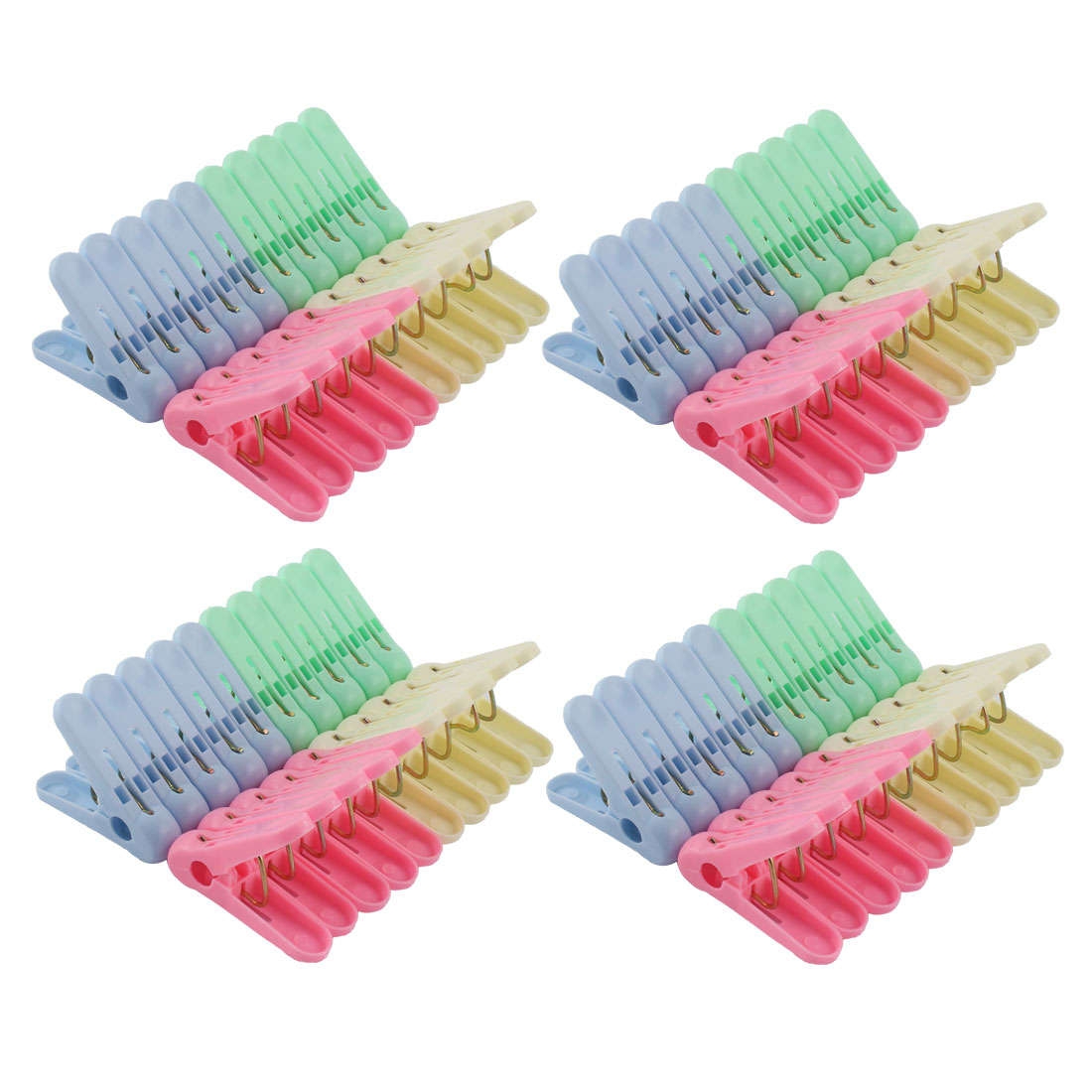 Household Plastic Socks Towel Clothespin Clothes Peg Clips Clamp 80pcs