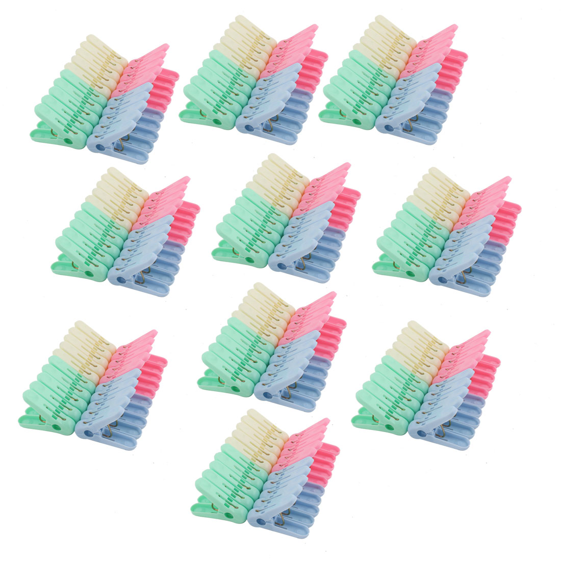 Household Plastic Socks Towel Bag Clothing Clothes Clips Clamp Clothespin 200pcs