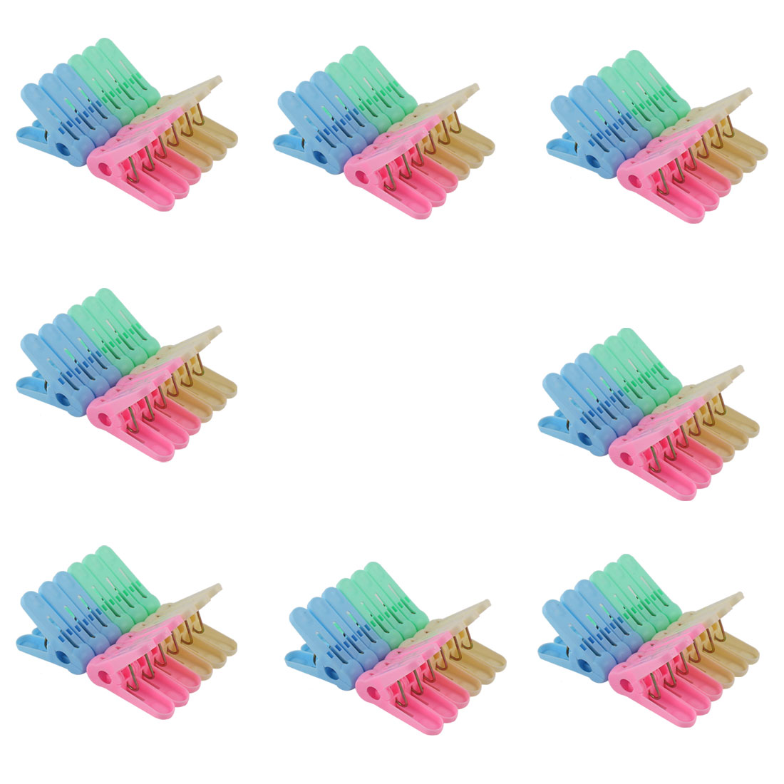 Household Plastic Socks Towel Clothing Clothes Clips Clamp Clothespin Assorted Color 96pcs