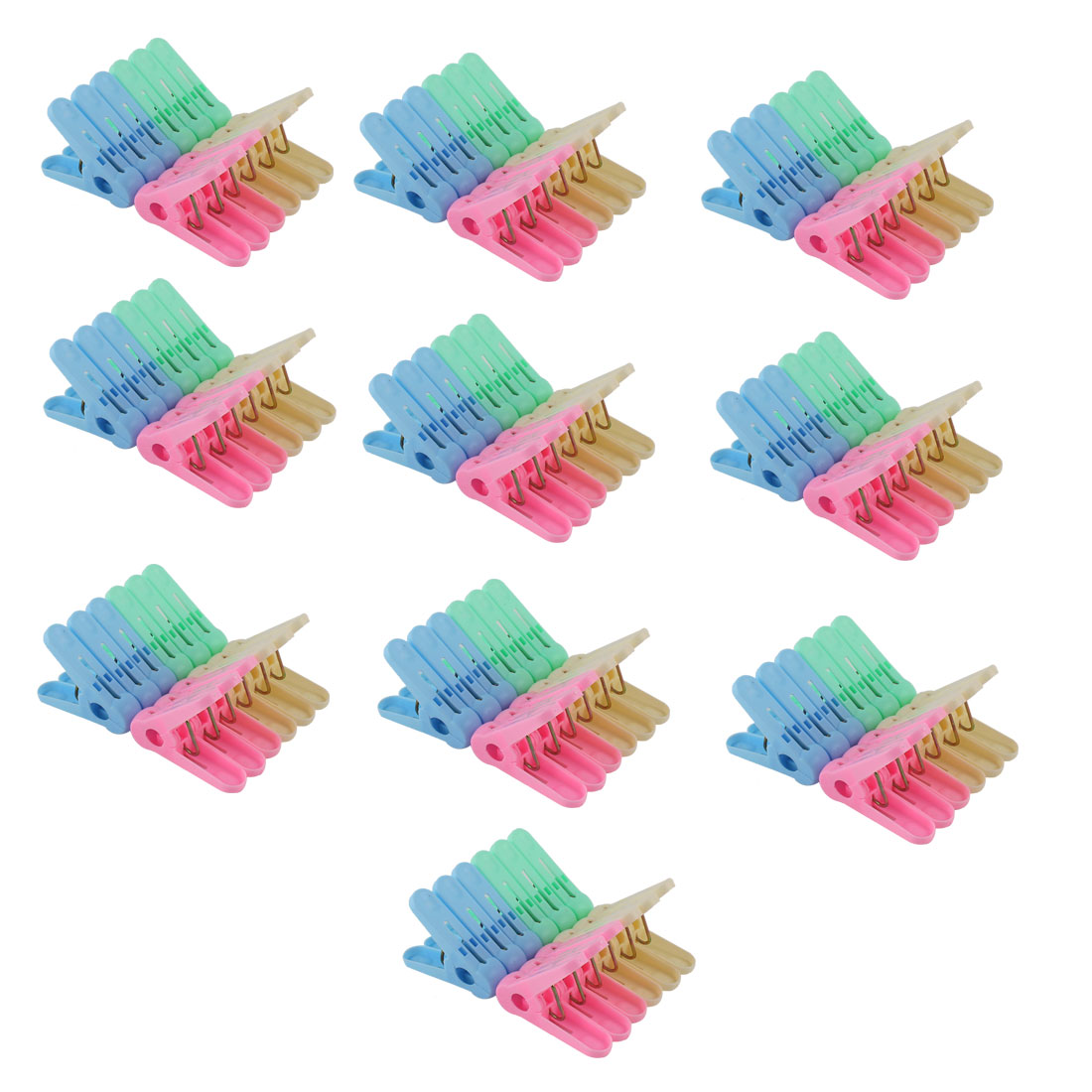 Household Plastic Socks Towel Clothing Clothes Clips Clamp Clothespin Assorted Color 120pcs