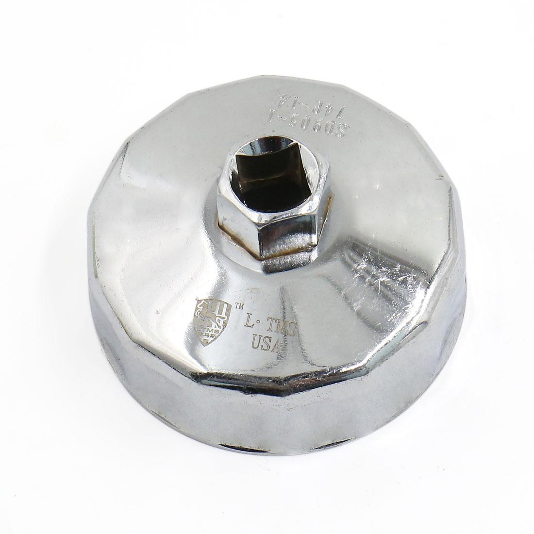 74mm Inner Diameter Cap Stycle Stainless Steel Oil Filter Wrench 14 Flutes for Car