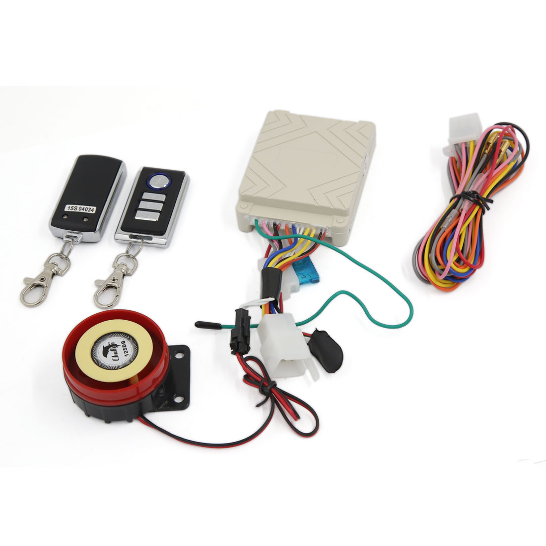 DC 12V Motorcycle Anti-theft Security Alarm System Engine Start 125dB w Remote Control