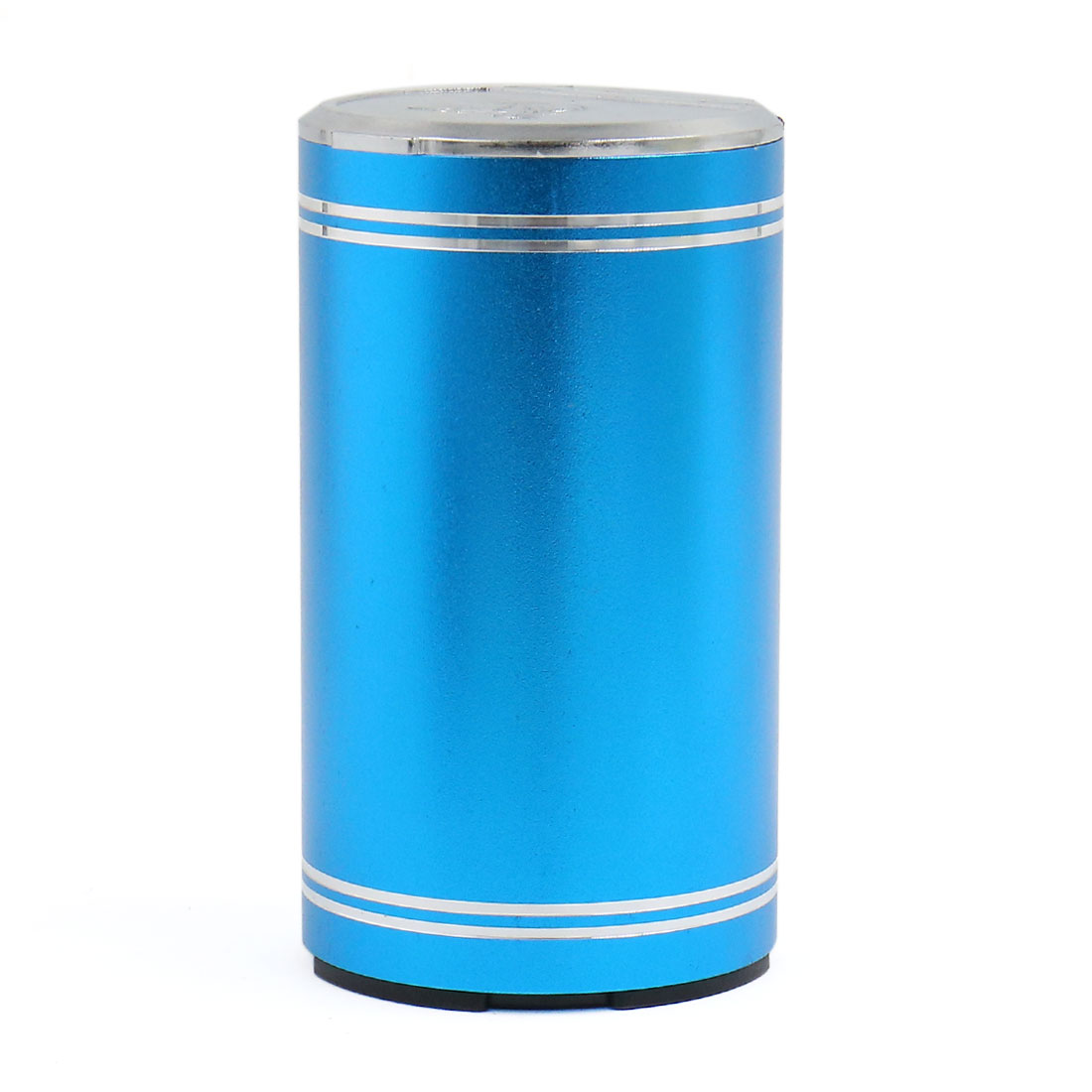 Car Blue Aluminum Alloy Cylinder Shaped Smokeless Ashtray Cigarette Ash Holder