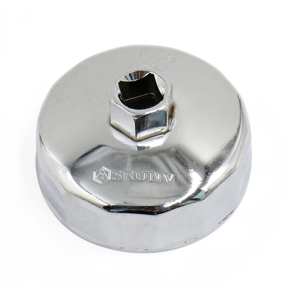 75mm Auto Car Removal Tool Stainless Steel 13mm Square Drive Oil Filter Wrench Cap