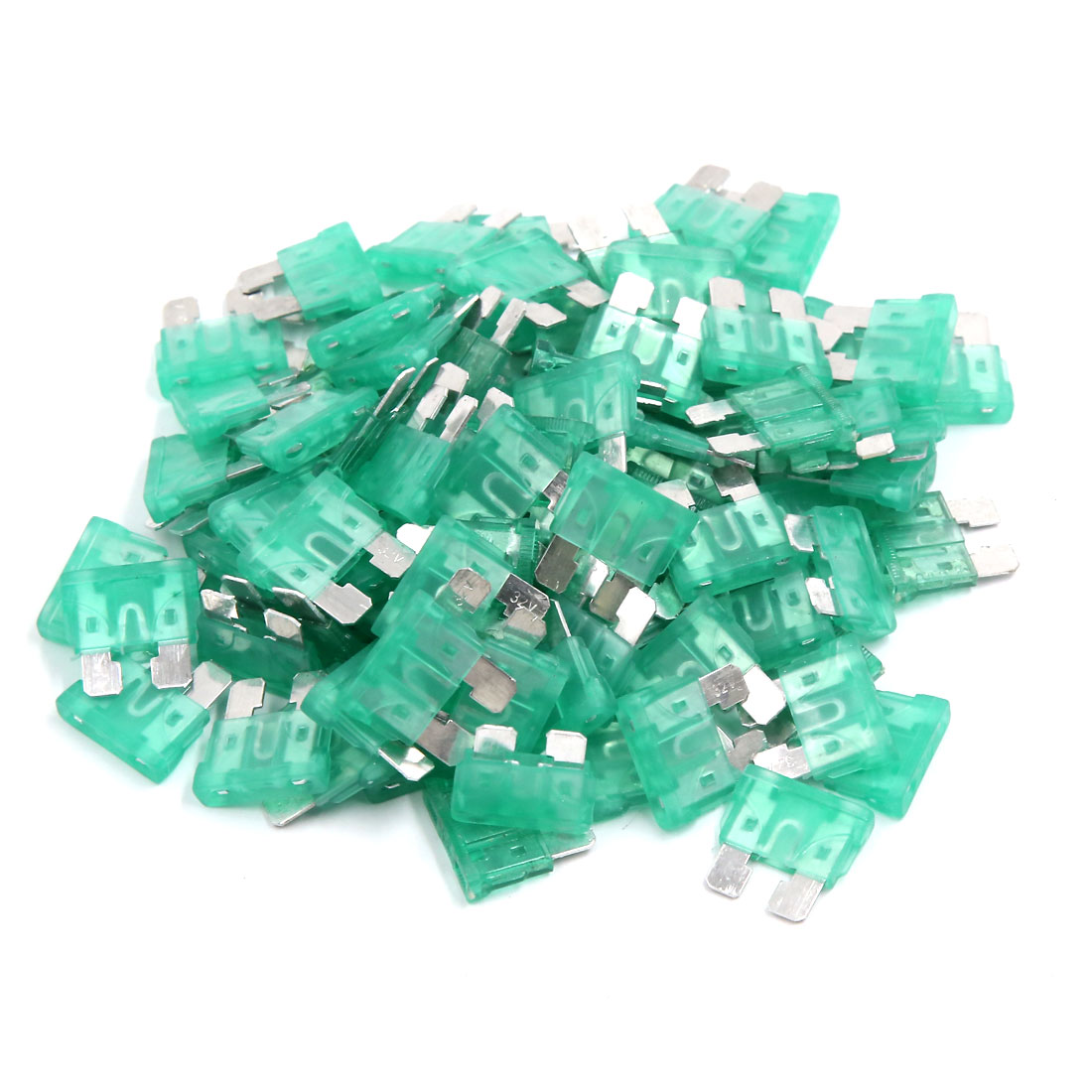 30A Car Truck Motorcycle Metal Green Blade Fuses 100 Pcs