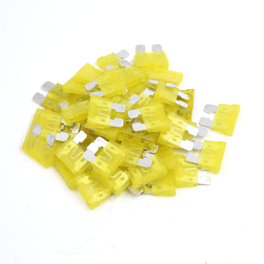50 Pcs 20A Blade Style Fuse for Motorcycle Motorbike Auto Car