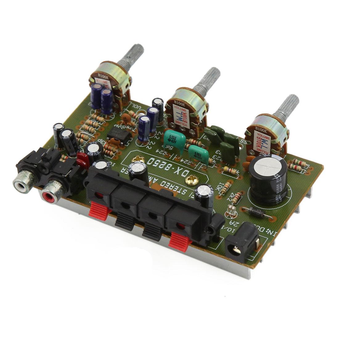 DC12V LFE Subwoofer Audio Hi-Fi 4 Channel Car Boat Stereo Power Amplifier Board