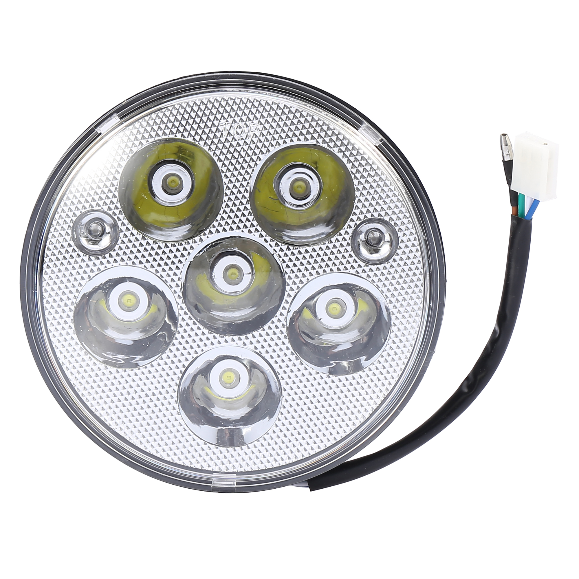 5.5 Inch Motorcycle Front Indicator Round White 6 LED Head Light Fog Lamp