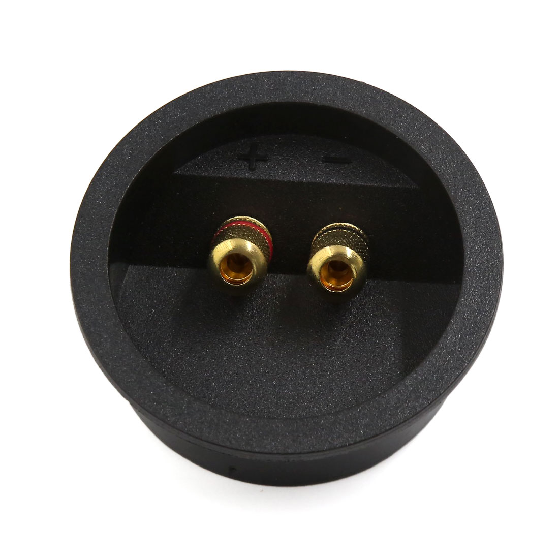 80mm Dia Round Audio Speaker Spring Binding Post Dual Terminal Box Connector Board