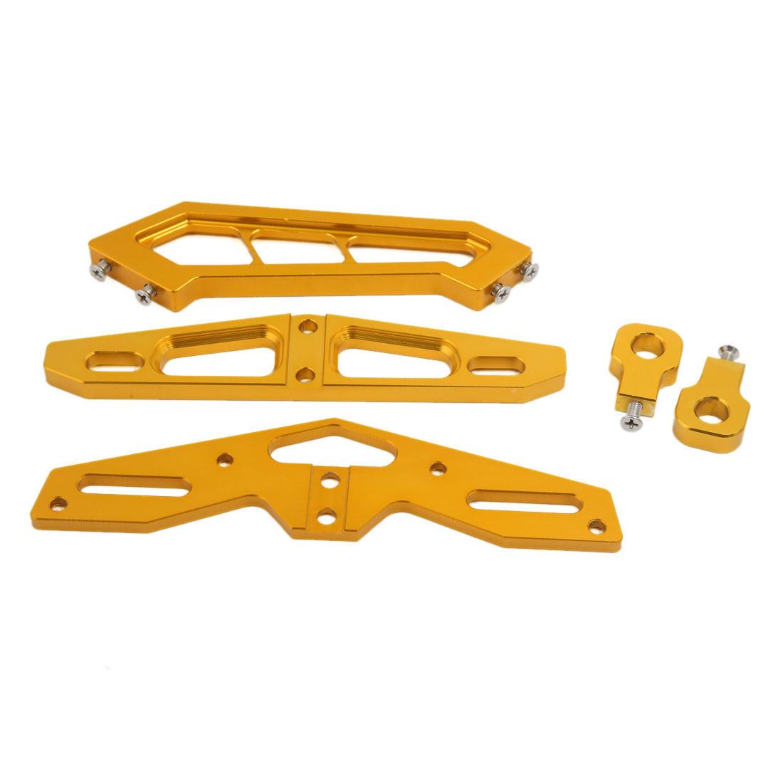 Gold Tone CNC Aluminum Alloy Racing Motorcycle Tail License Plate Frame Support Bracket