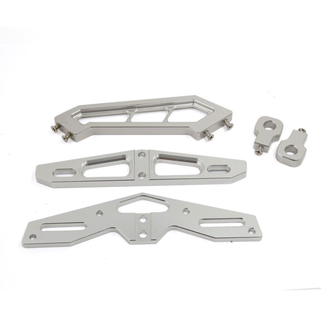 Silver Tone CNC Aluminum Alloy Racing Motorcycle Tail License Plate Frame Support Bracket