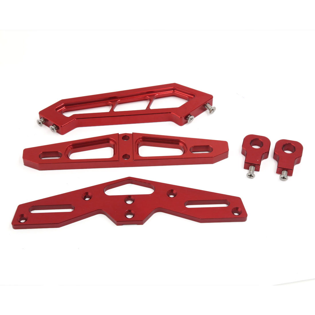 Red CNC Aluminum Alloy Racing Motorcycle Tail License Plate Frame Support Bracket