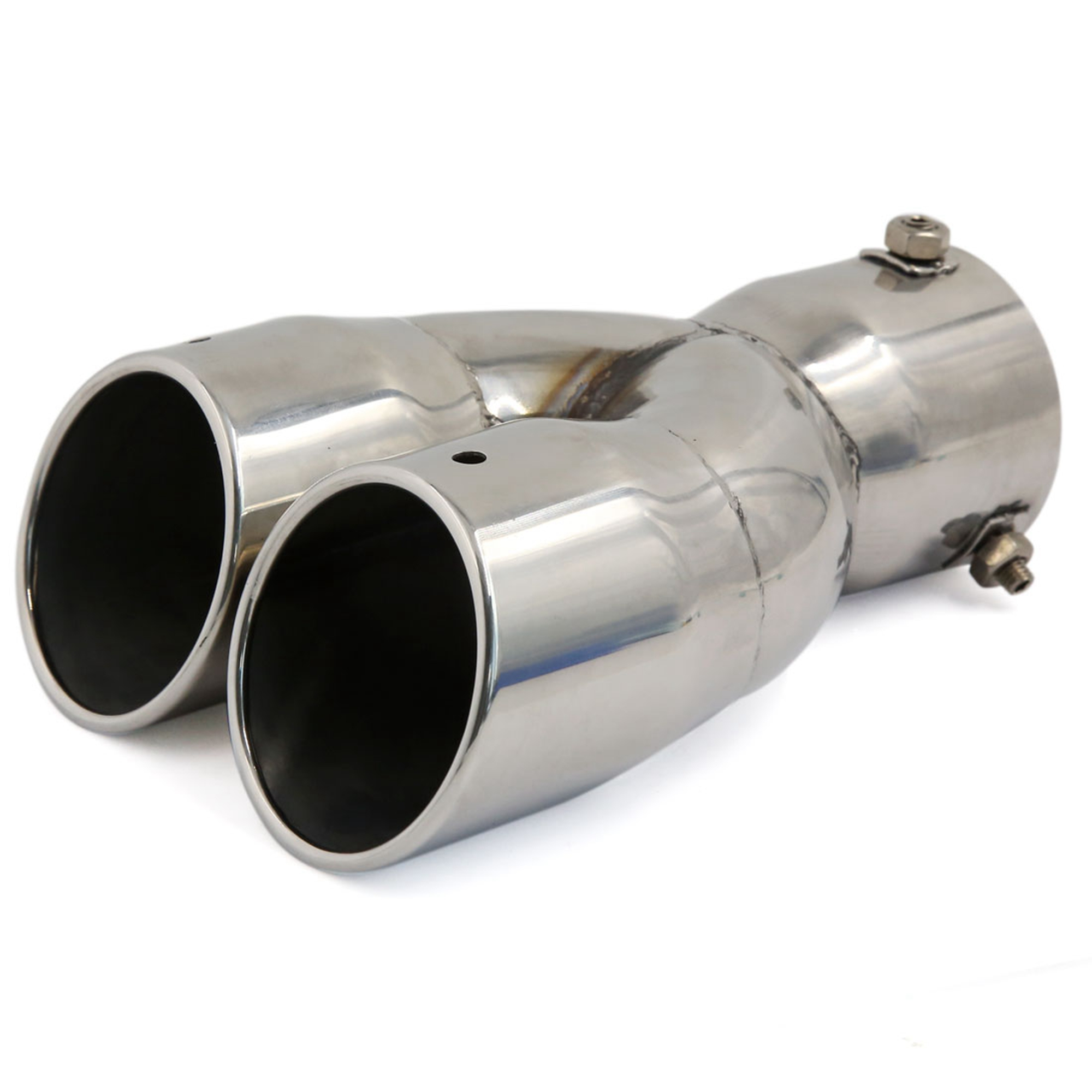"""3"""" Inlet Dia Double Row Stainless Steel Exhaust Muffler Tip for Auto Car"""
