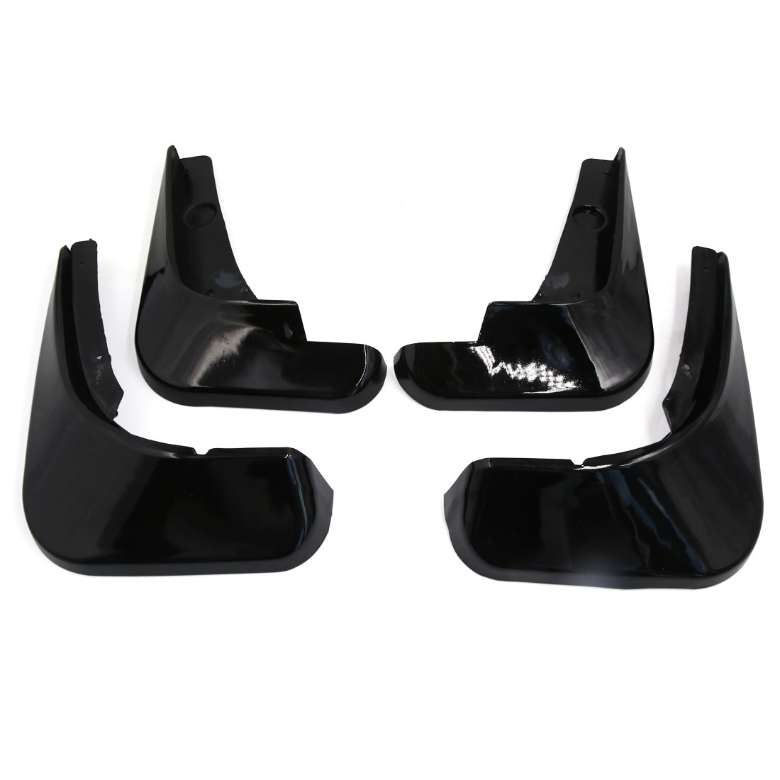 4Pcs Black Plastic Front Rear Splash Guards Mud Flaps Set for Chevrolet Cruze