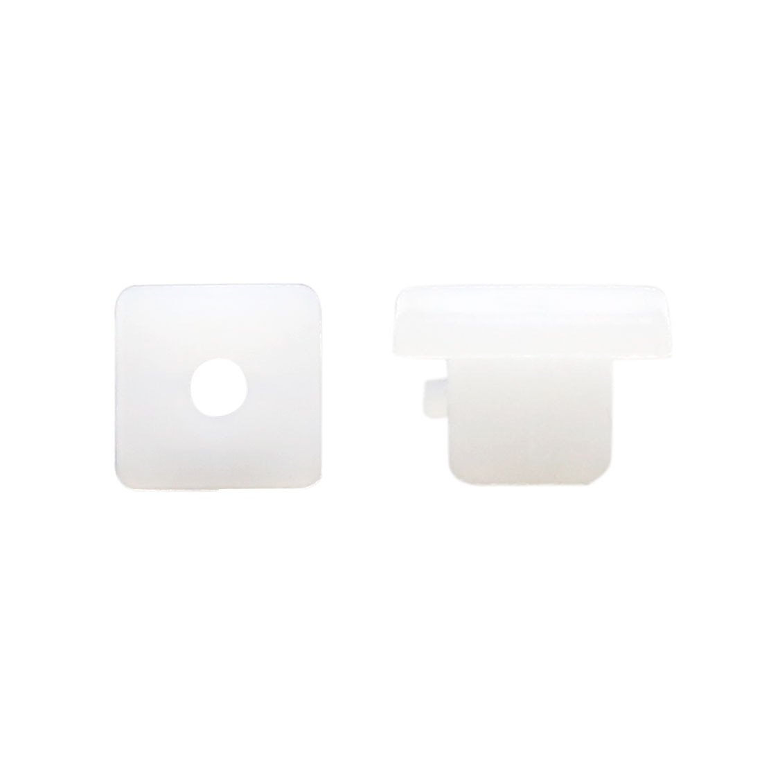 100 Pcs 9mm x 9mm Hole White Plastic Rivet Trim Fastener for Car