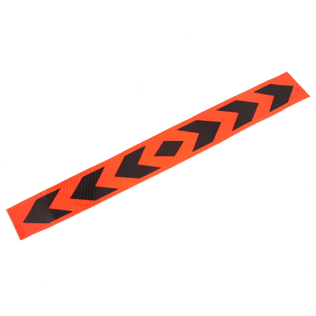 39cm x 5cm Black Arrows Pattern Stick-on Reflective Sticker Strip 8pcs for Car