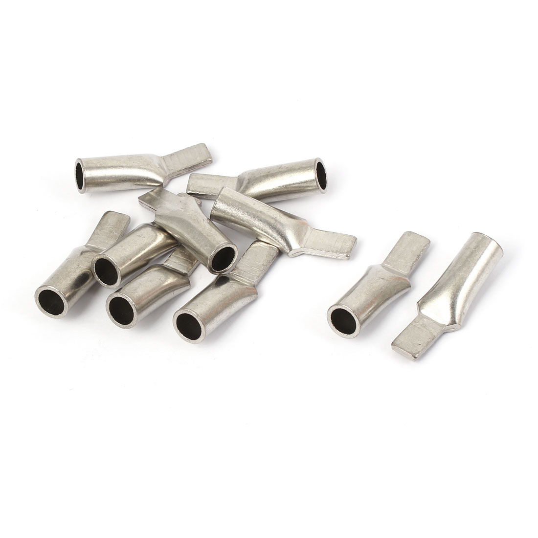25mm2 Cable Copper Terminal Wiring Connector Silver Tone 10pcs