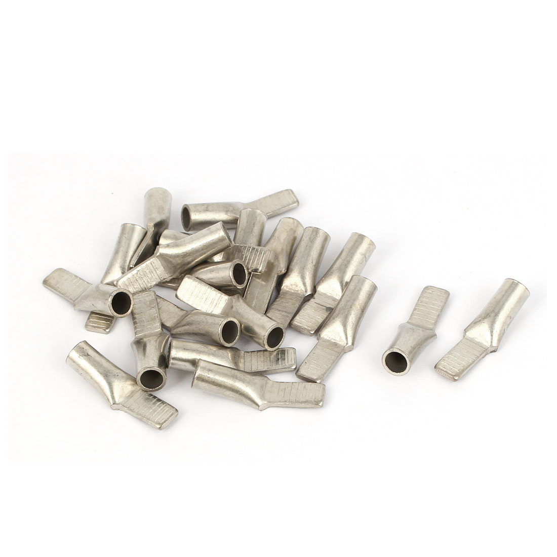 C45-10mm2 Cable Metal Terminal Wiring Connector Silver Tone 20 PCS