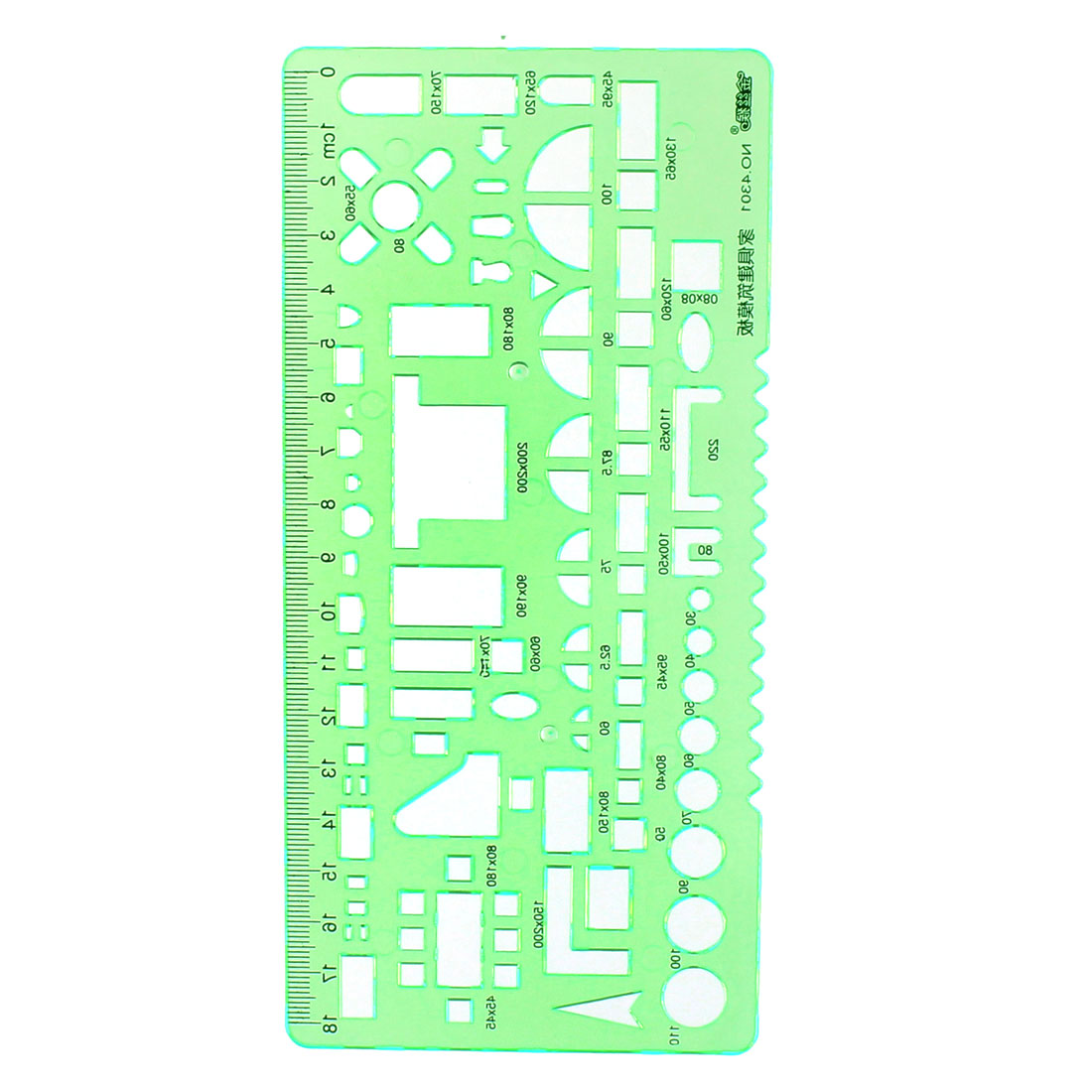 Furniture Constraction Drafting Drawing Stationery Template Ruler Clear Green