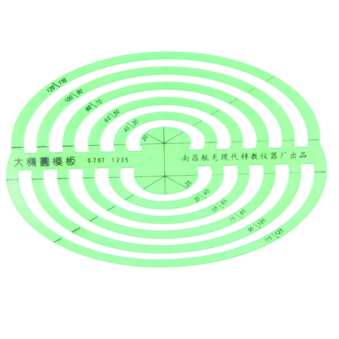 School Office Students Oval Circle Measuring Drawing Template Ruler Stationery