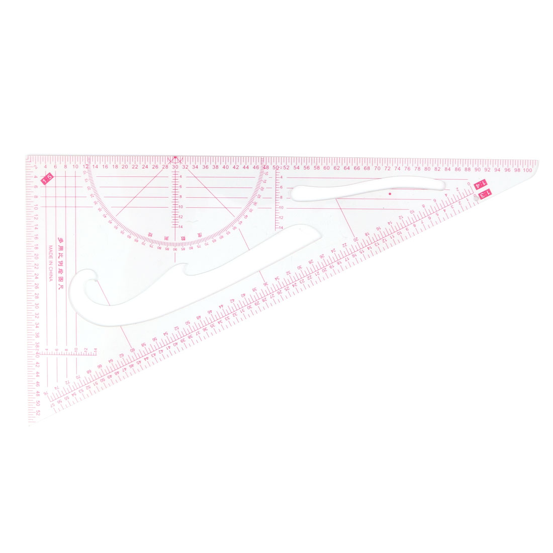 School Office Triangle Building Map Drawing Scale Template Ruler Stationery