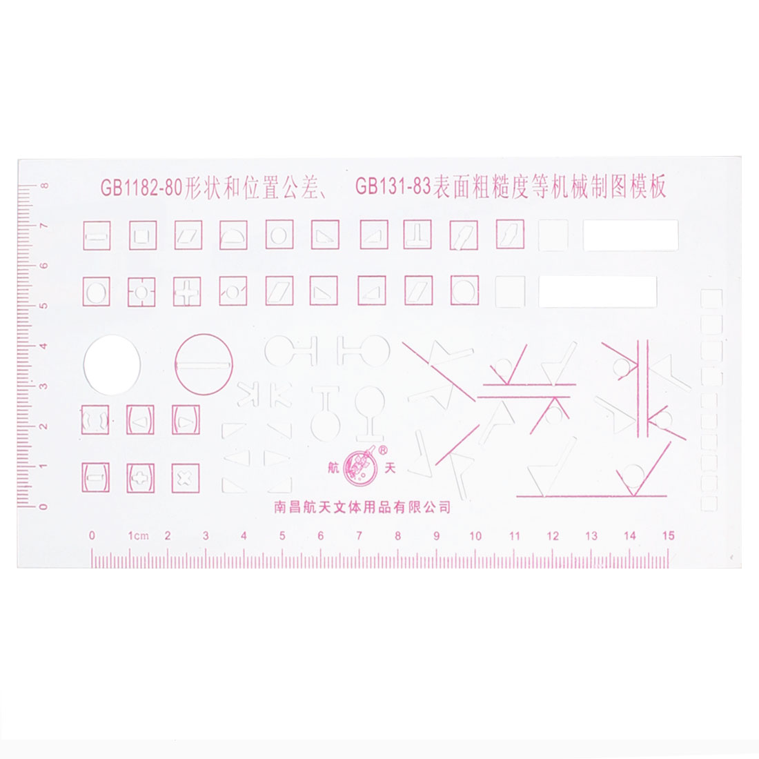 School Office Stationery Red Scale Mechanical Measuring Drawing Template Ruler