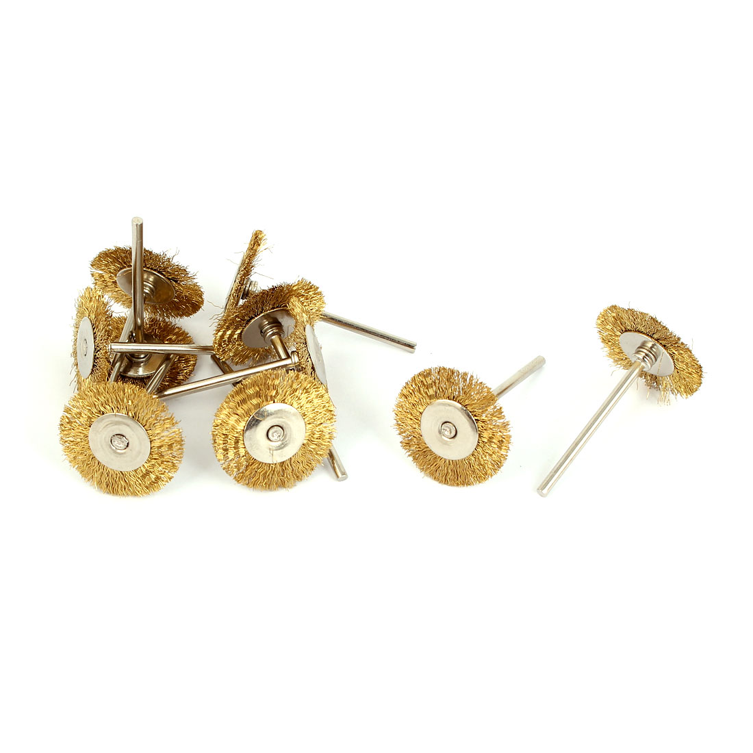 Steel Wire Jewelry Buffing Polishing Wheels Brushes Gold Tone 10pcs