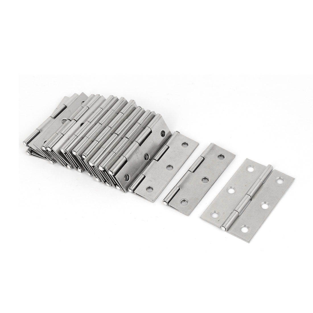 Cupboard Cabinet Stainless Steel Door Hinges 55mm Long 10pcs