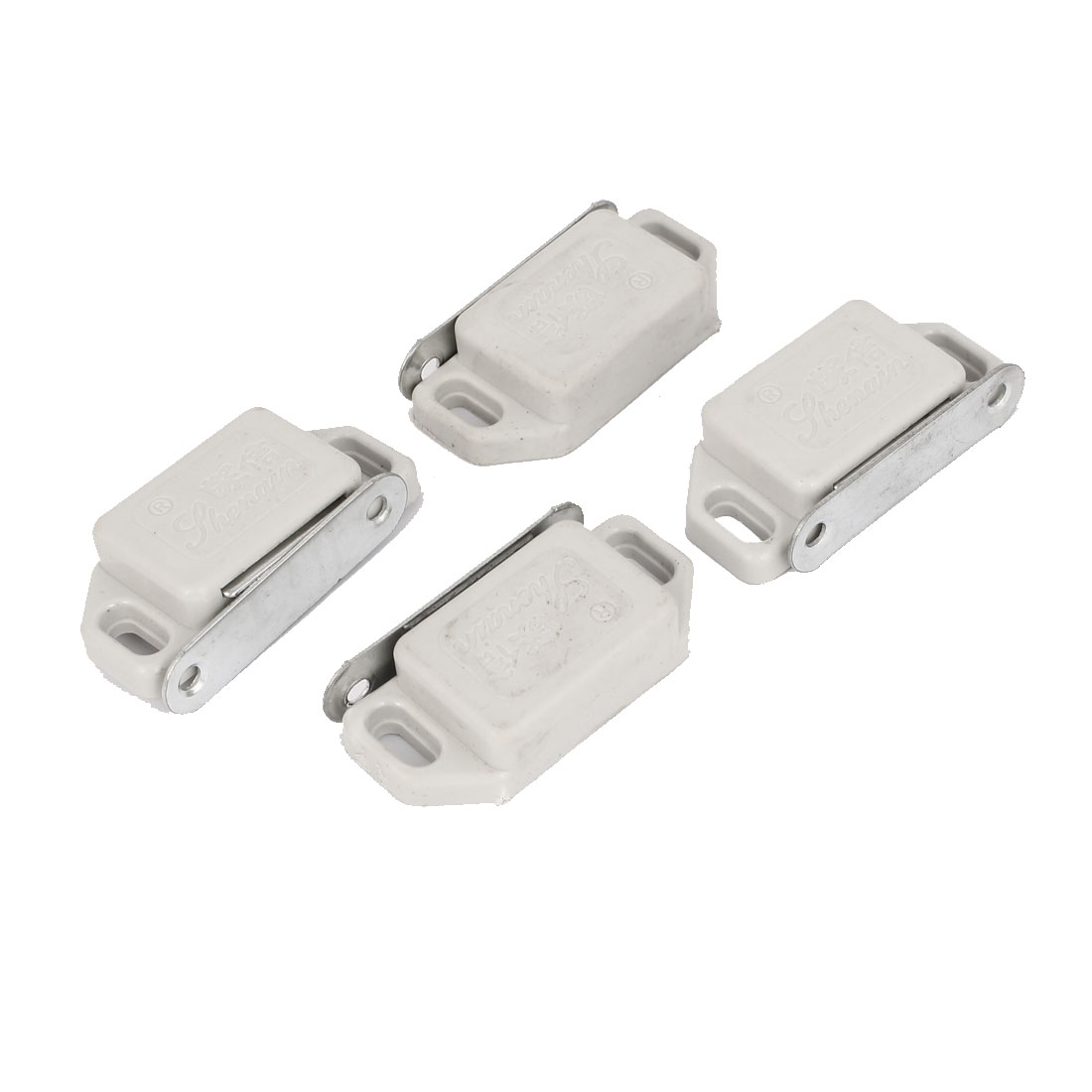 56mm Length Cabinet Door Hardware Magnetic Catch Off White 4pcs