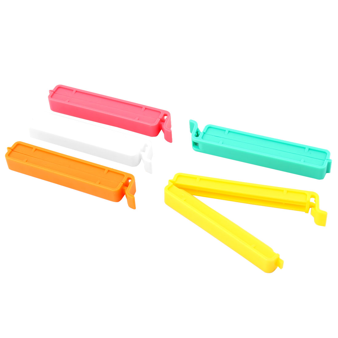 Kitchen Tool Snacks Chips Plastic Sealing Clamp Bag Seal Clip Multicolor 5Pcs