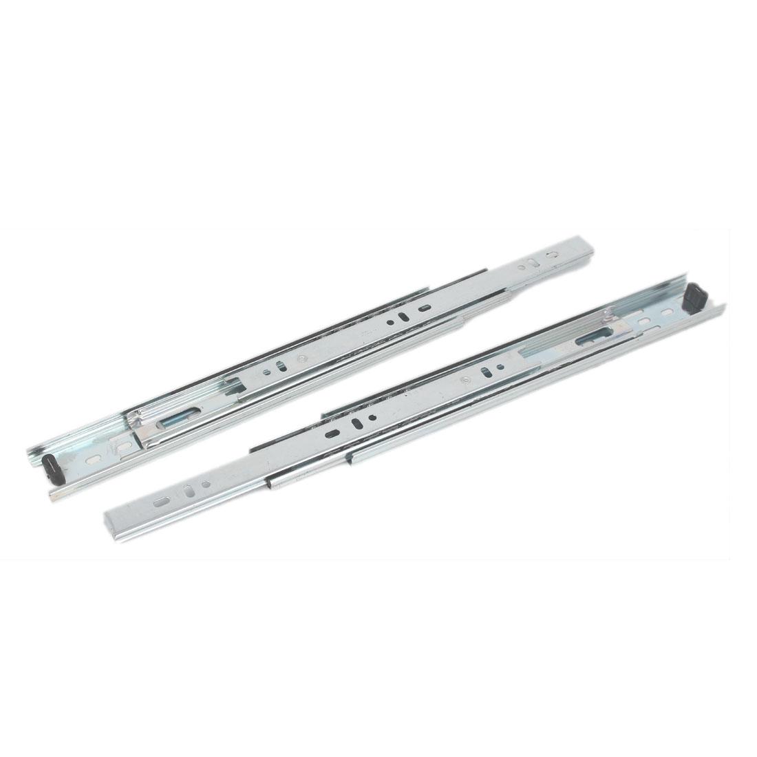 280mm Length Cabinet Drawer Dresser Metal Ball Bearing Slide 2pcs
