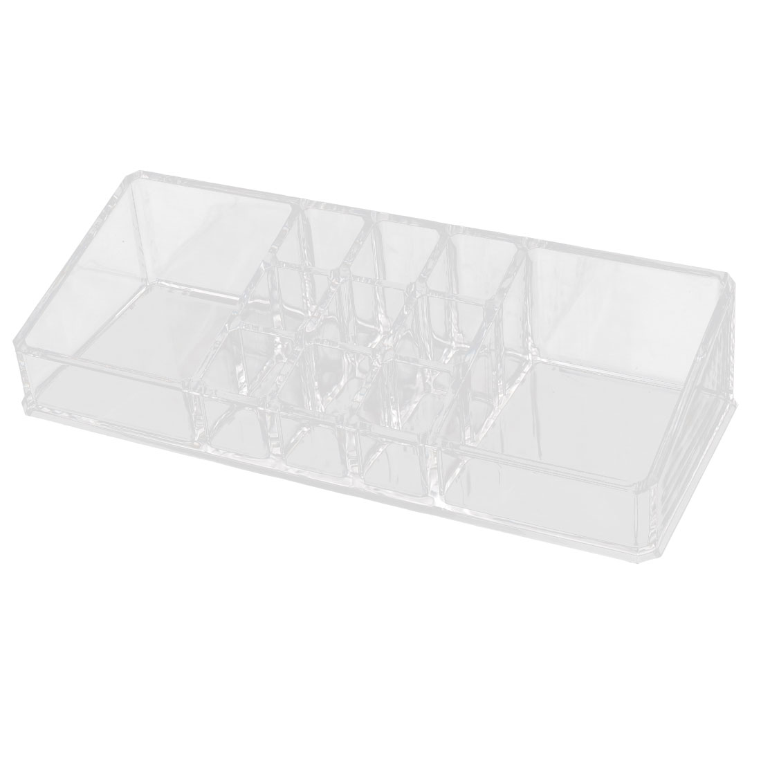 Acrylic 11 Slots Cosmetic Accessories Display Case Jewelry Box Organizer Clear