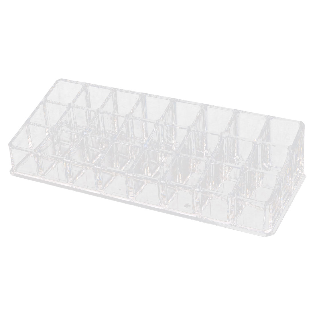 Acrylic 24 Slots Lipstick Toiletry Tool Container Jewelry Box Organizer Clear