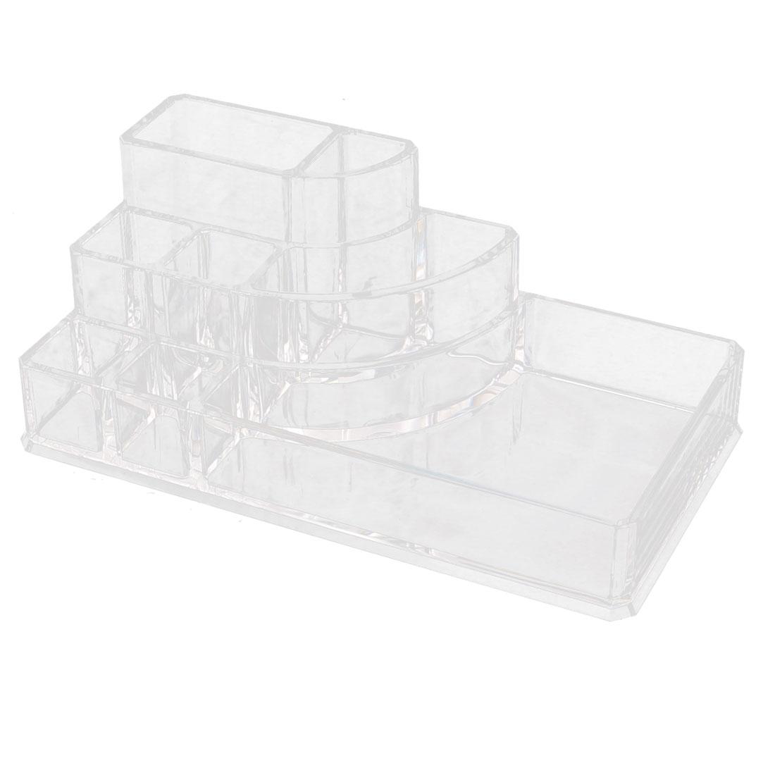 Acrylic 8 Slots Lipstick Lipliner Storage Case Jewelry Box Organizer Clear