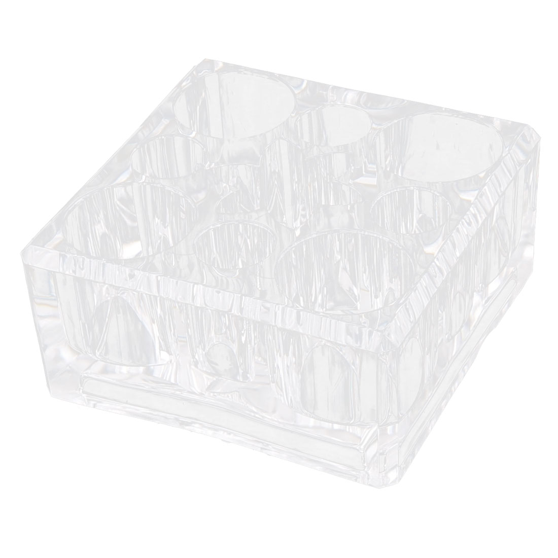 Acrylic 9 Compartments Brush Cosmetic Case Holder Jewelry Box Organizer Clear