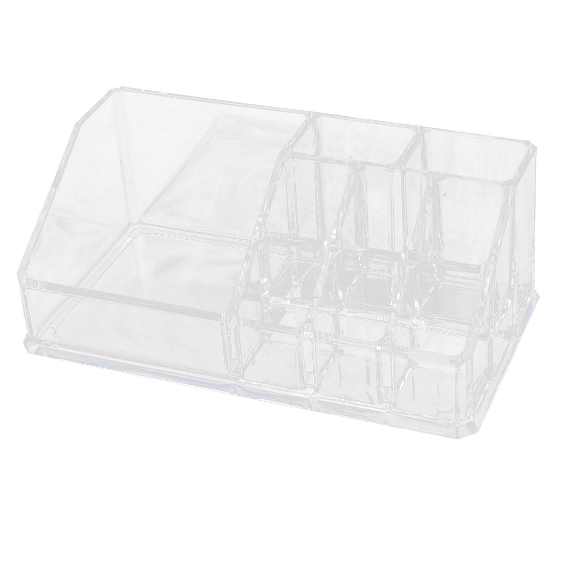 Acrylic 9 Slots Lipstick Makeup Display Case Jewelry Box Organizer Clear