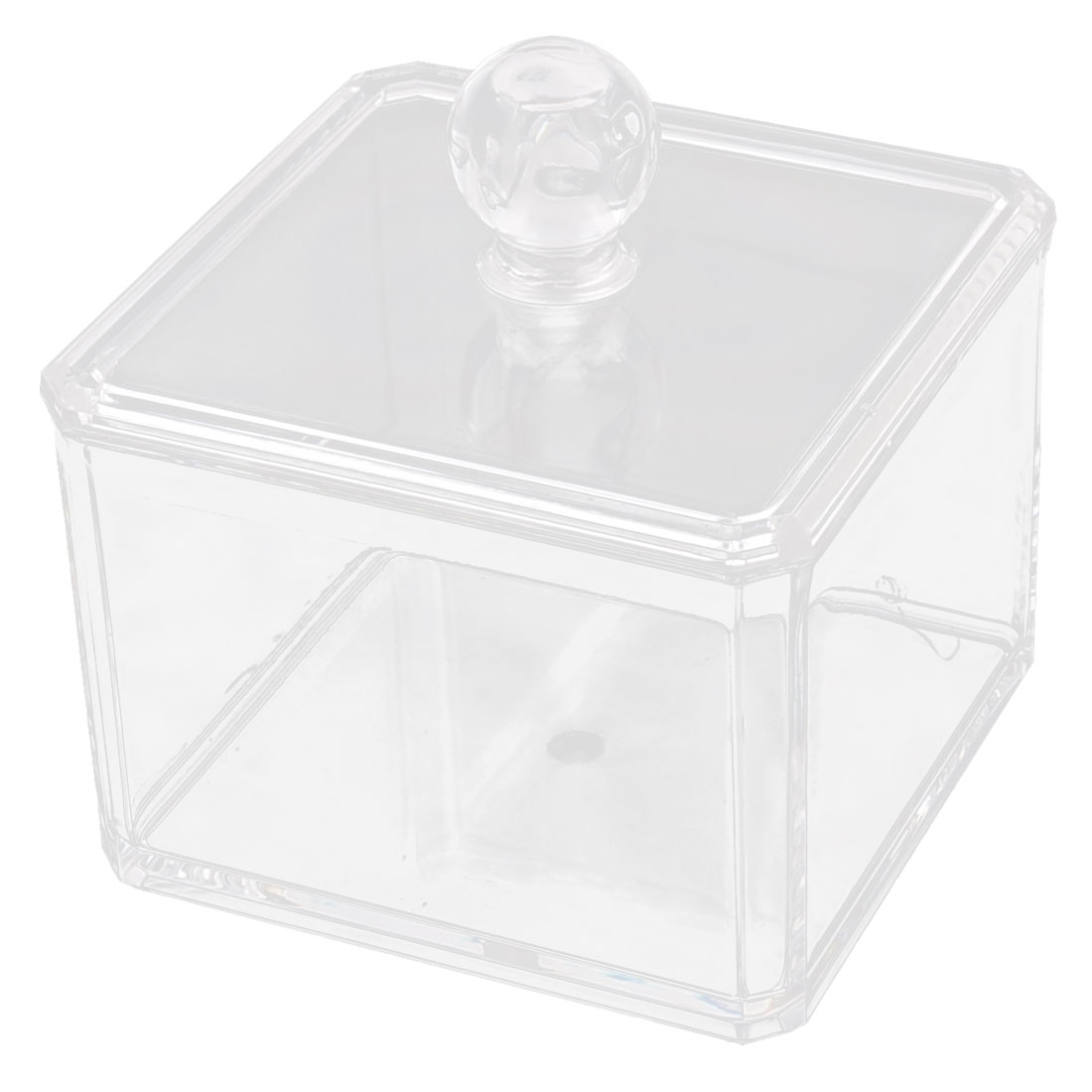 Acrylic Cotton Pads Lipstick Cosmetic Storage Holder Jewelry Box Organizer Clear