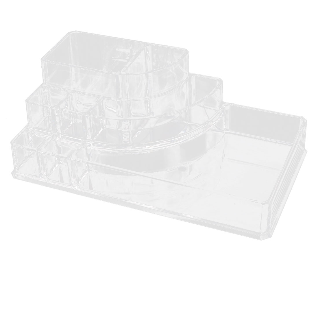 Acrylic 8 Slots Lipstick Dressing Case Jewelry Storage Box Organizer Clear