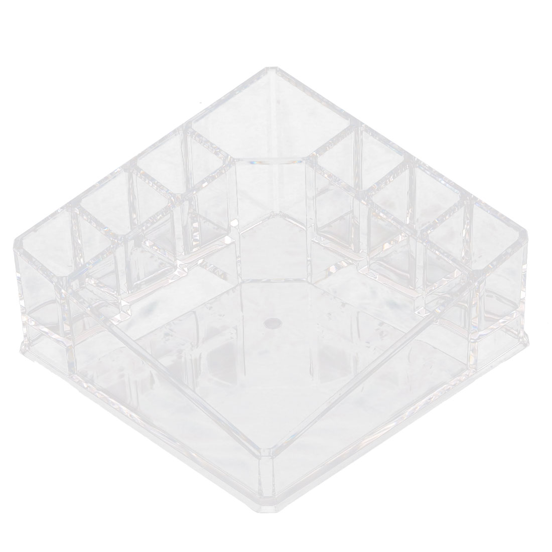 Acrylic 8 Compartments Makeup Tool Storage Holder Jewelry Box Organizer Clear