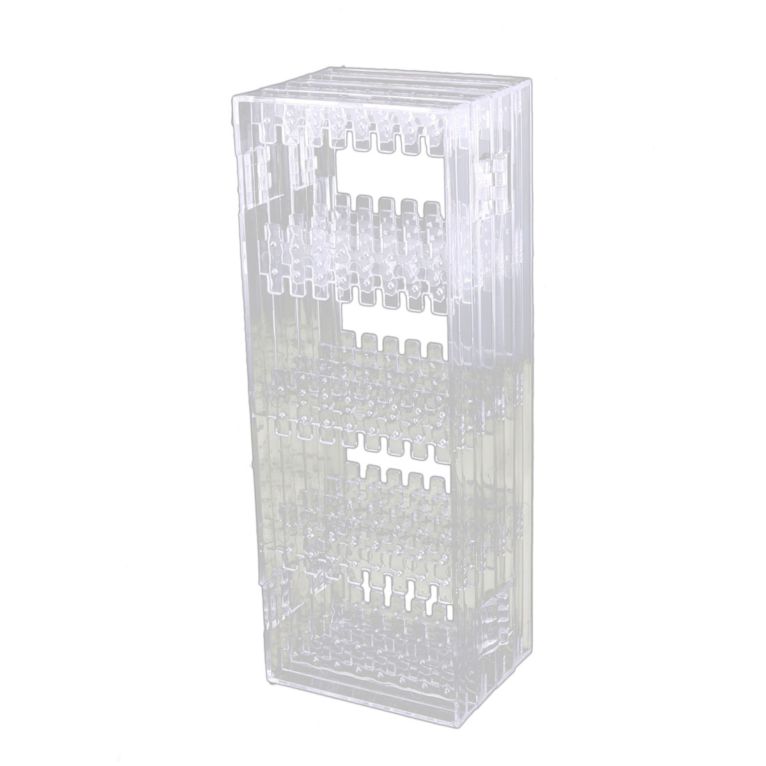 Acrylic Square Shape Foldable Earring Necklace Jewelry Display Rack Stand Clear