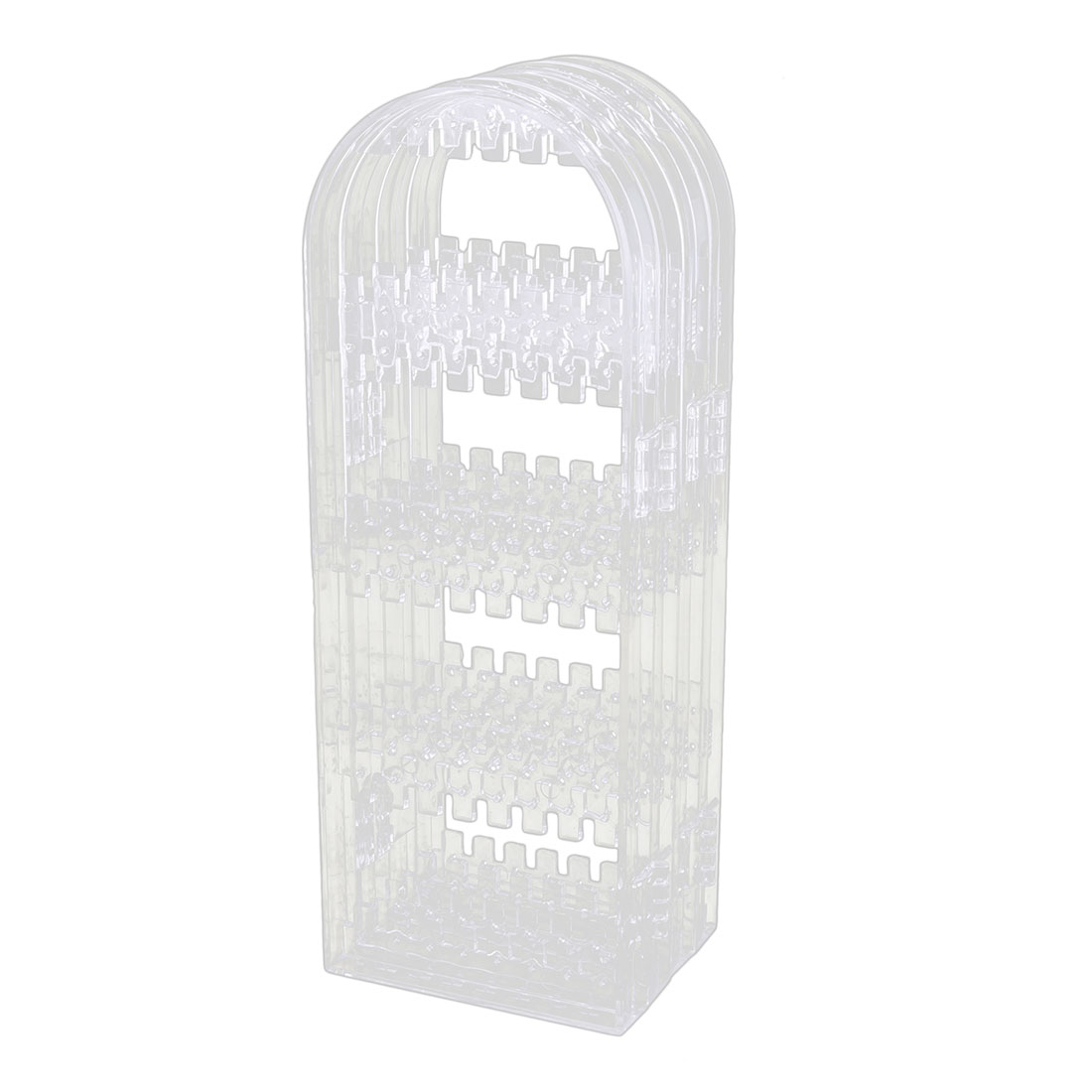 Acrylic Collapsible Earring Necklace Jewelry Display Rack Storage Holder Clear
