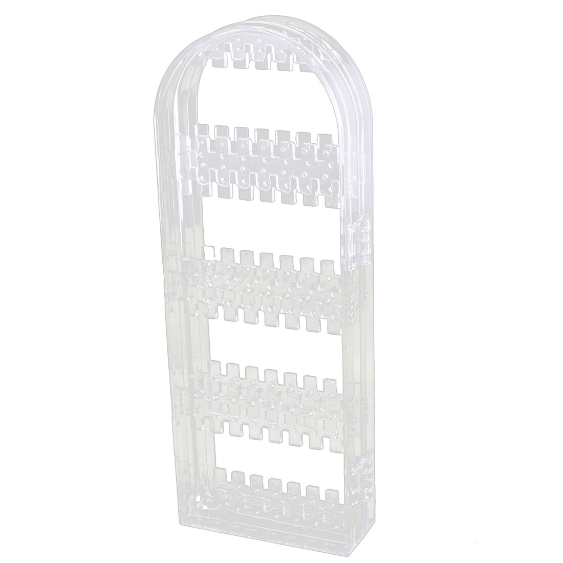 Acrylic Foldable Earring Screen Necklace Jewelry Display Rack Holder Clear