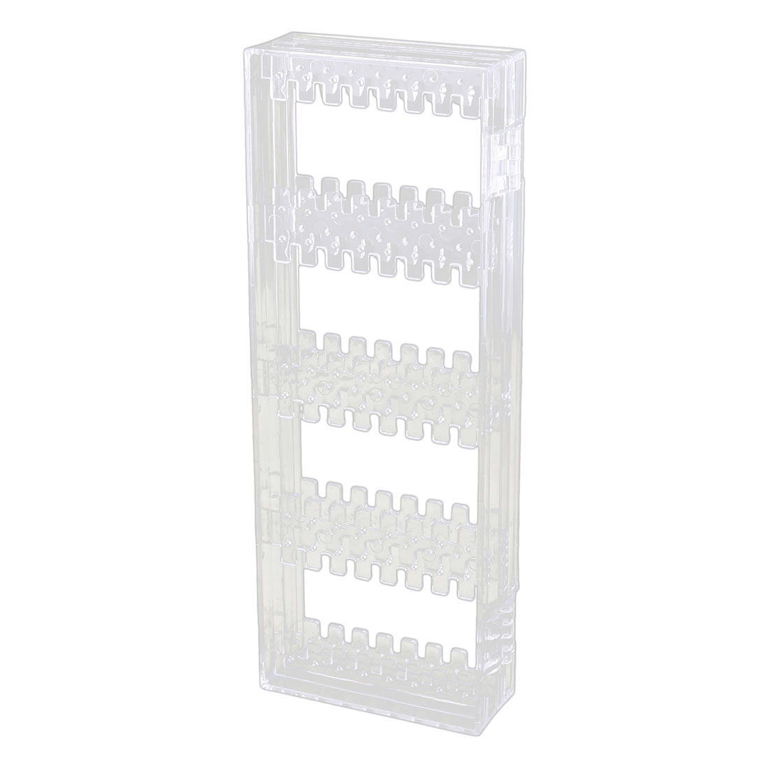 Acrylic Rectangle Foldable Earring Necklace Jewelry Display Rack Clear